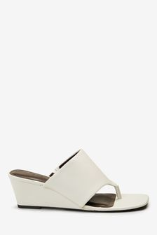 Toe Post Wedge Mules
