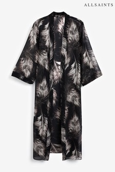AllSaints Black Carine Kimono