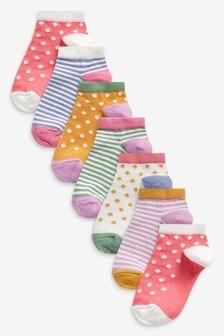 5 Pack Spot/Stripe Trainer Socks