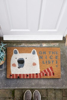 Merry Polar Bear Doormat