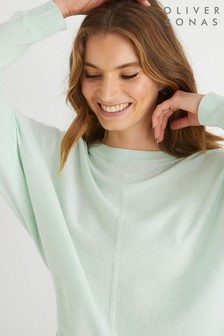 Oliver Bonas Green Batwing Knitted Jumper