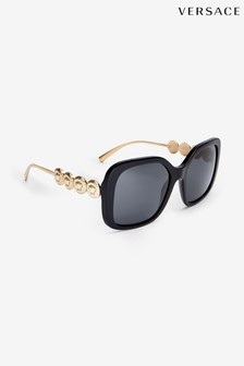 Versace Black Large Frame Sunglasses