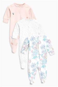 Набор из трех пижам в цветочек (0 мес. - 2 лет)