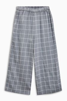 Checked Wide Leg Trouser (3-16yrs)