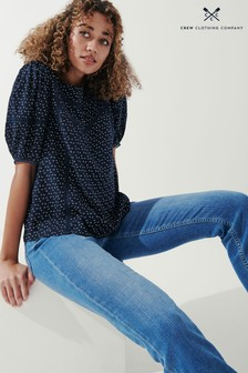 Crew Clothing Company Blue Laurieanne Blouse