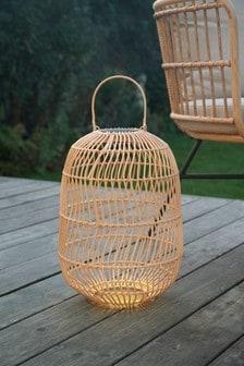 Large Solar Rattan Style Lantern