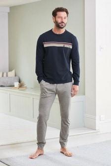 Chest Stripe Pyjama Set