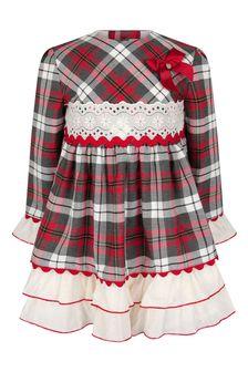 Girls Red Check Dress