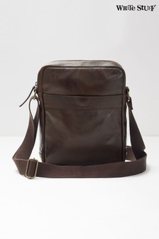 White Stuff Brown Buzz Leather City Crossbody Bag