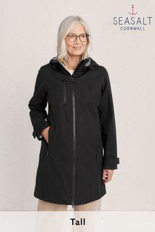 Seasalt Tall Black Coverack Coat