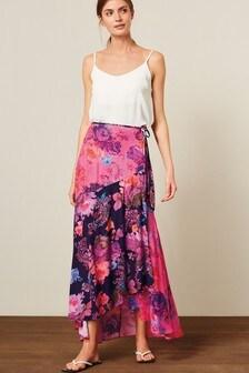 Print Wrap Skirt