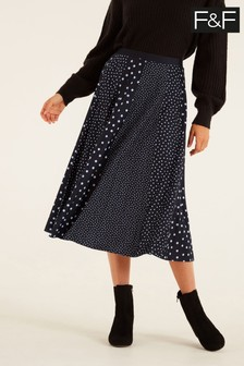 F&F Mono Multi Scale Spot Skirt