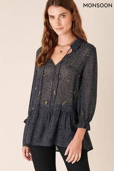 Monsoon Heart Print Blouse