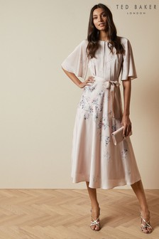 Ted Baker Erla Bouquet Printed Midi Dress
