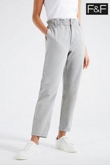 F&F Grey Mom Comfort Jeans