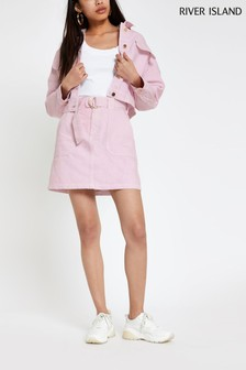 River Island Pink Utility Skirt