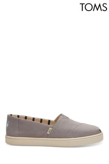 TOMS Morning Dove Canvas Cupsole Alpargatas Slip-Ons