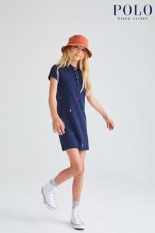 Ralph Lauren Navy All Over Pony Logo Dress