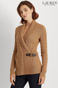 Lauren Ralph Lauren® Buckle Detail Donato Cable Jumper