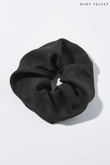 Mint Velvet Black Plain Scrunchie