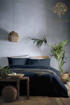 Cassia Washed Cotton Duvet Cover and Pillowcase Set by Appletree