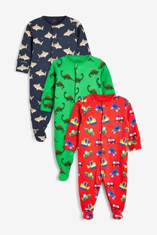 3 Pack Character Transport Sleepsuits (0mths-2yrs)