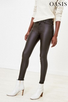 Oasis Brown Coated Lily Jeans
