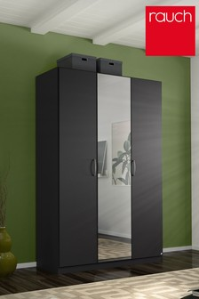 Cameron Dark Grey Triple Hinged Wardrobe by Rauch