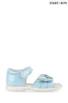 Start-Rite Bloom Blue Glitter Patent Girl'S Open Toe Sandals