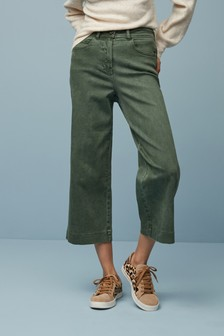 Ankle Length Wide Leg Jeans