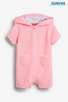 Sunuva Pink Towelling All-In-One