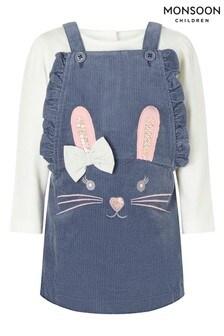 Monsoon Baby Bunny Cord Pinny Dress