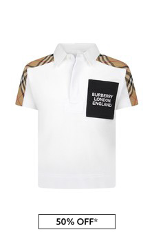 Burberry Kids Boys Cotton Polo Shirt