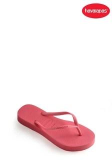 Havaianas® Pink Slim Flatform Flip Flops