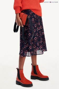 Tommy Hilfiger Purple Amia Knee Length Skirt