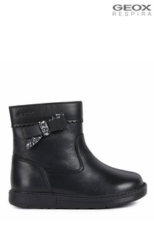 Geox Baby Girls Hynde Black Boots