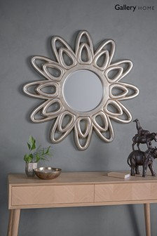 Centenary Champagne Silver Starburst Mirror by Gallery Direct