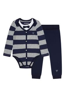 Guess Baby Boys Blue Cotton Set