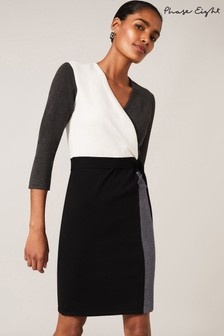 Phase Eight Black Bibi Colourblock Wrap Dress