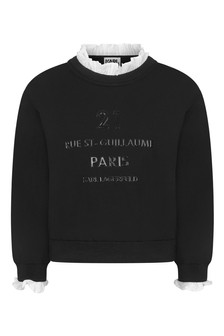 Girls Black Milano Sweater
