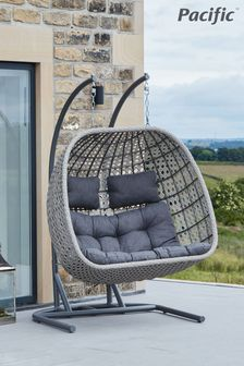 Pacific Double Stone Grey Hanging Chair