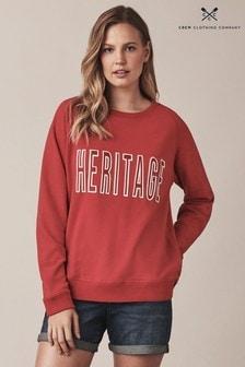 Crew Clothing Red Graphic Sweatshirt