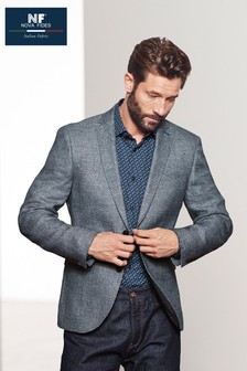 Signature Textured Linen Blend Slim Fit Blazer 7b85dea03b7c