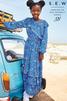 Monsoon Blue S.E.W Willow Mini Me Dress