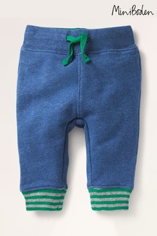 Mini Boden Blue Essential Jersey Trousers