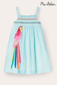 Boden Blue Fun Appliqué Sun Dress