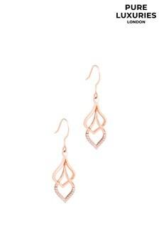 PureLuxuries London Yanet Sterling Silver Drop Earrings