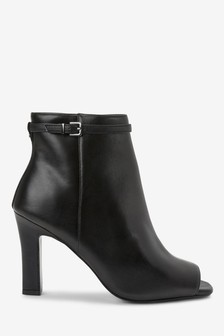 Leather High Cut Shoe Boots