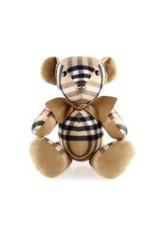 Beige Check Cashmere Thomas Teddy Bear
