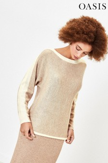Oasis Natural Angelina Batwing Jumper